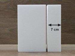 Rechteck Tortendummies mit Runde Kanten von 7 cm hoch