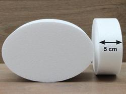Ovale Tortendummies mit Runde Kanten von 5 cm hoch