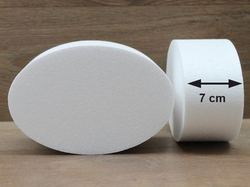 Ovale taartdummies met afgeronde hoek van 7 cm hoog