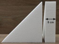 Driehoek taartdummies met afgeronde hoek van 5 cm hoog