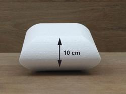 Kussen taartdummies met afgeronde hoeken van 10 cm hoog