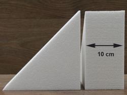 Driehoek taartdummies met afgeronde hoek van 10 cm hoog