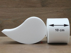 Komma Paisley Tortendummies mit Runde Kanten von 10 cm hoch