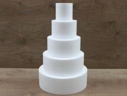 Runde Tortendummy-set von 10 cm hoch