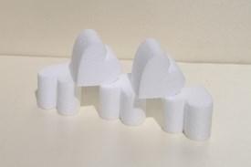 Mini heart cake dummies