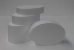 Ovale Tortendummy-set