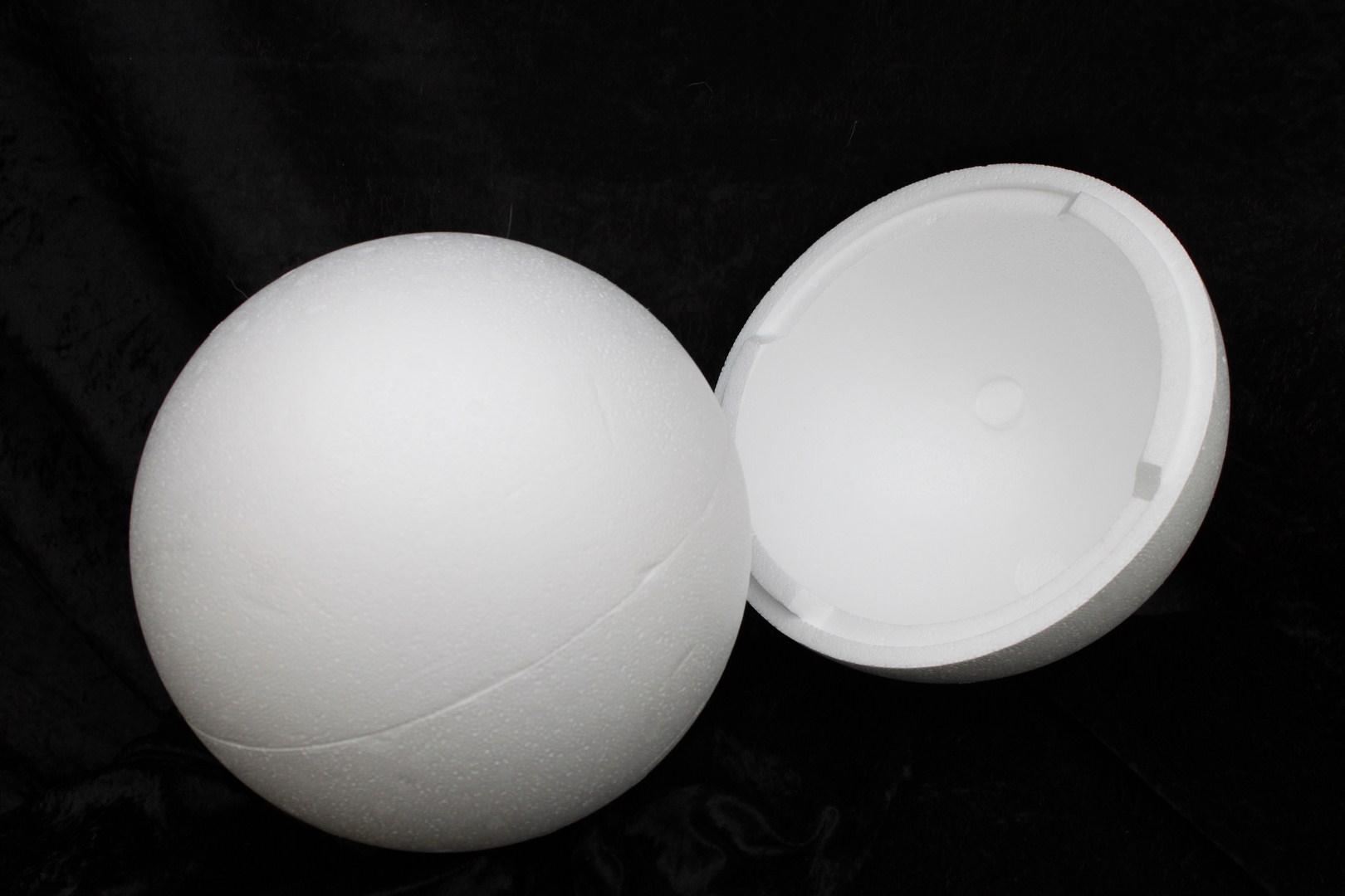 Styrofoam Ball Ø 25 cm 2-pcs