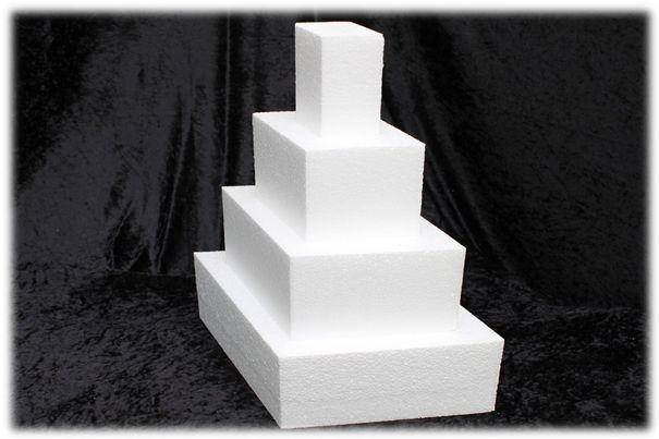 Diamond cake dummies with straight edges of 10 cm high