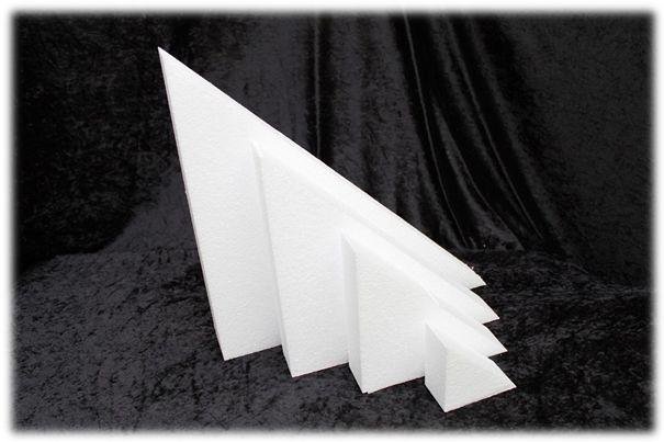 Driehoek taartdummies van 5 cm hoog