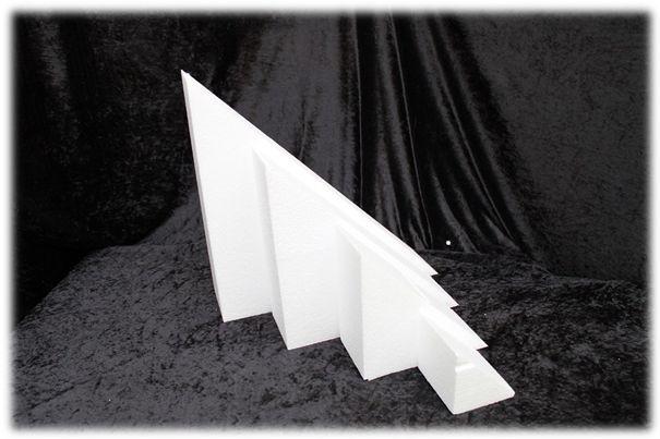 Dreieck Tortendummies von 7 cm hoch