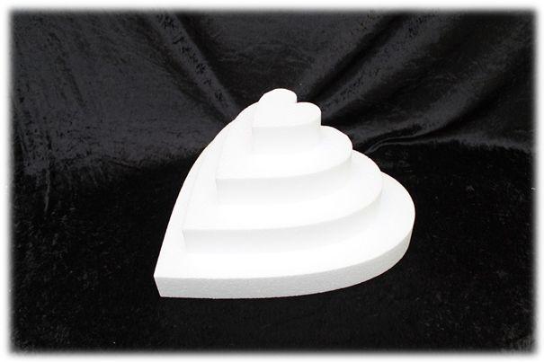 Hart taartdummies van 5 cm hoog