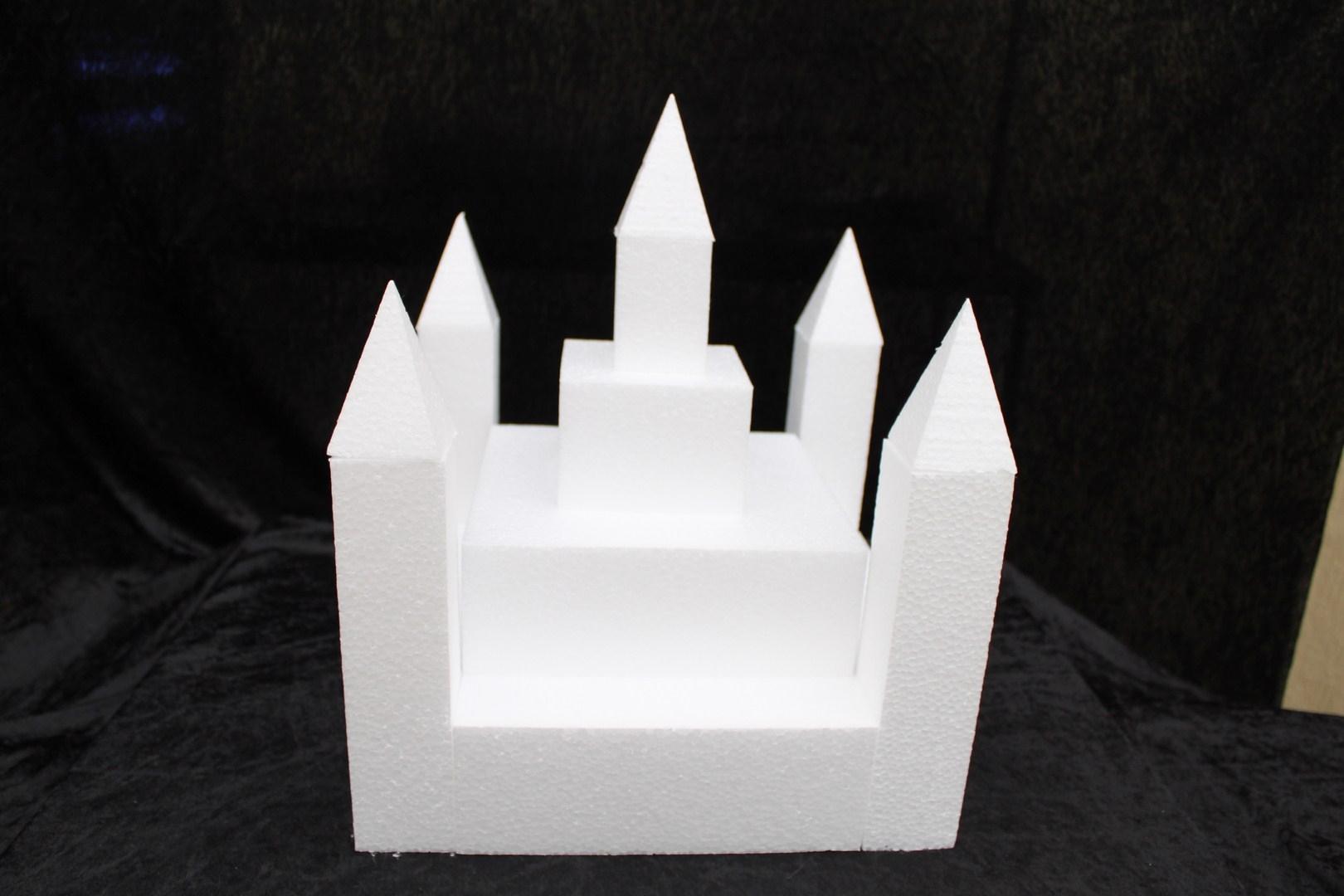 Castle cake dummy set 13 pcs - 30 x 30 cm, 35 cm high