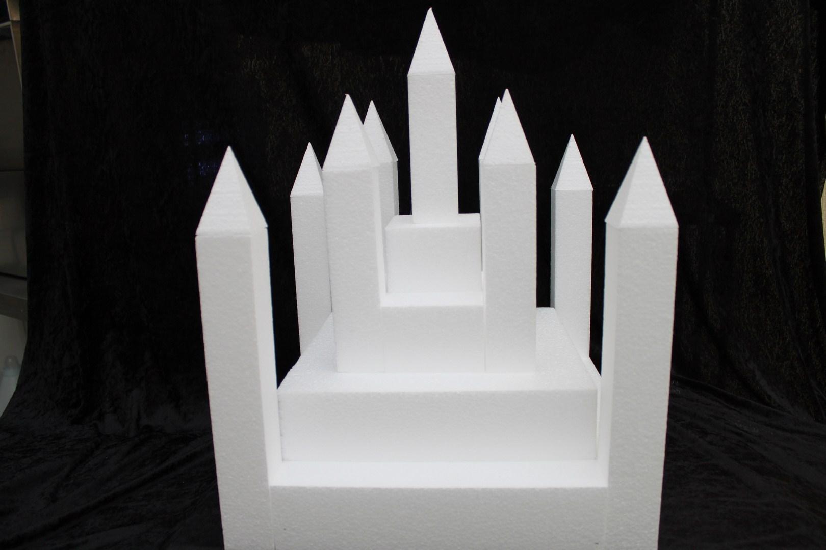 Kasteel 22 delig taartdummie set - 40 x 40 cm, 42 cm hoog