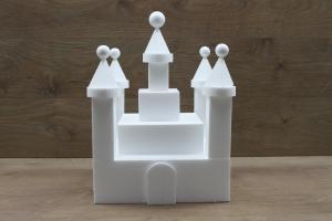 Kasteel 25 delig taartdummie set - 30 x 30 cm, 34 cm hoog