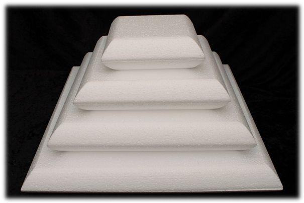 Kussen taartdummies met afgeronde hoeken van 7 cm hoog