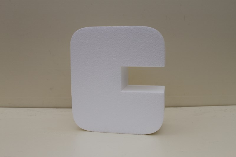 Letter cake dummies with straight edges of 10 cm high