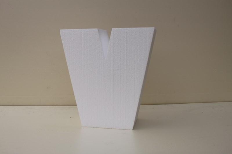 Letter taartdummies van 7 cm hoog