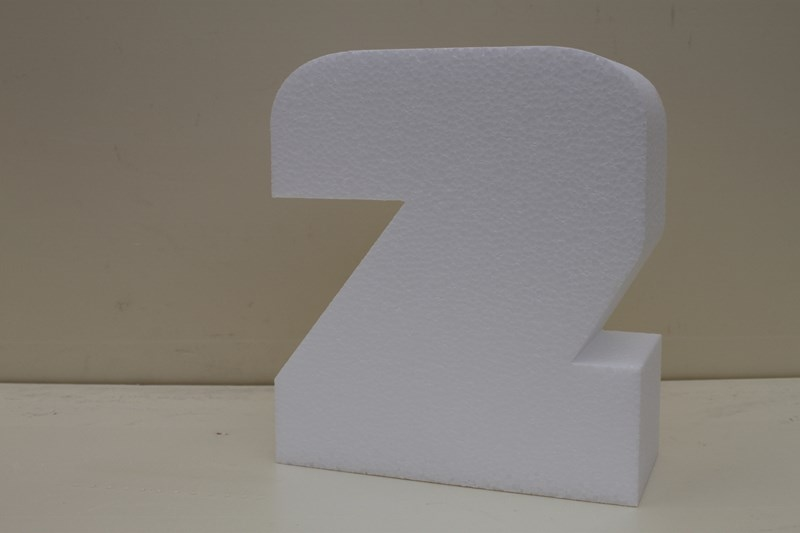 Letter cake dummies with straight edges of 7 cm high
