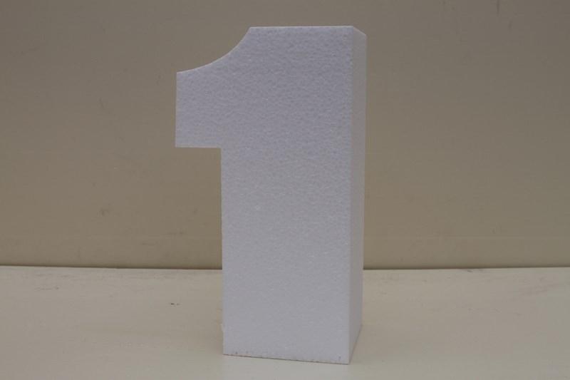Nummer taartdummies van 4 cm hoog