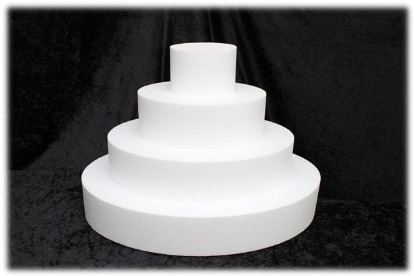 Oval Cake dummies with straight edges of 10 cm high