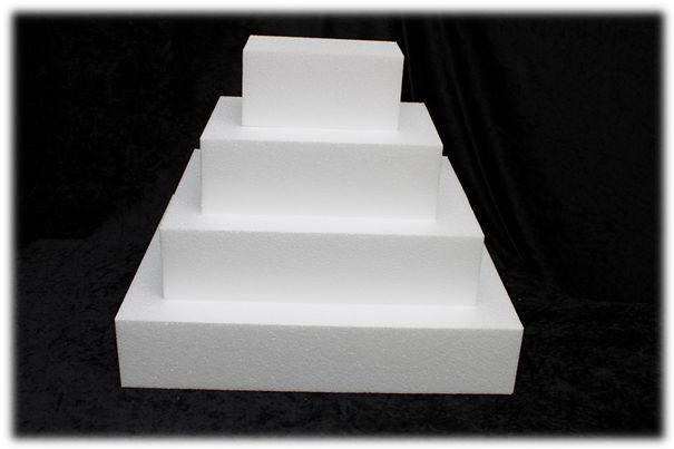 Rechthoek taartdummies van 10 cm hoog