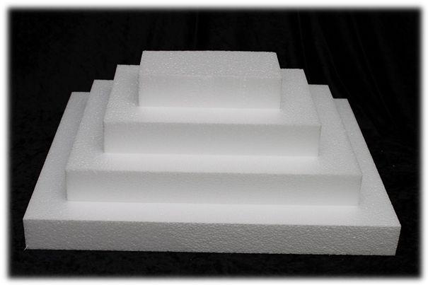 Rechthoek taartdummies van 5 cm hoog