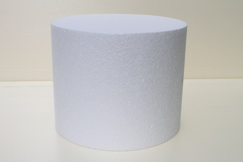 Round cake dummies with chamfered edges of 30 cm high