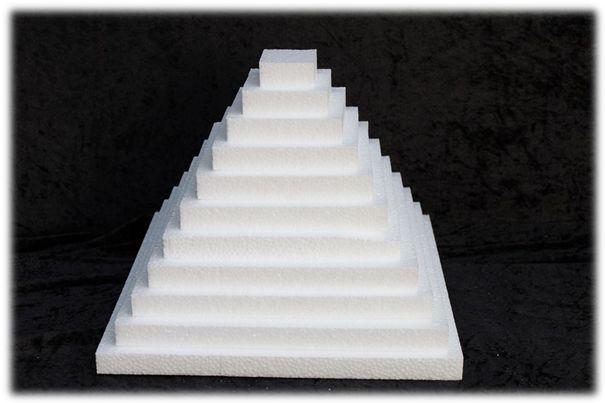 Scheibe Rechteckig - Stärke 4 cm