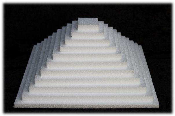 Scheibe viereckig - dicke 1 cm
