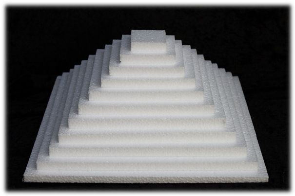 Square Sheet 1 cm thick polystyrene