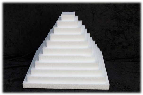 Square Sheet 2 cm thick polystyrene
