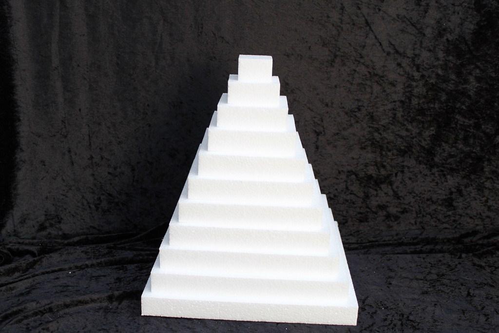 Schijf Vierkant 3 cm dik piepschuim