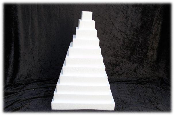 Schijf Vierkant 4 cm dik piepschuim