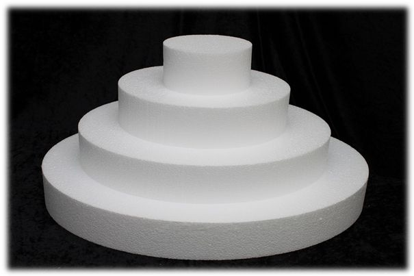 Oblong cake dummy set with straight edges