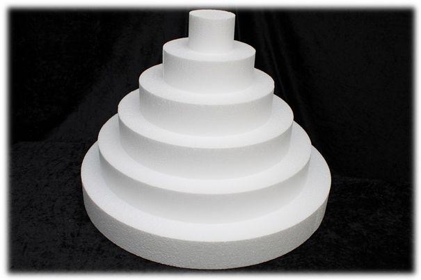 Set vierkante taartdummies van 7 cm hoog