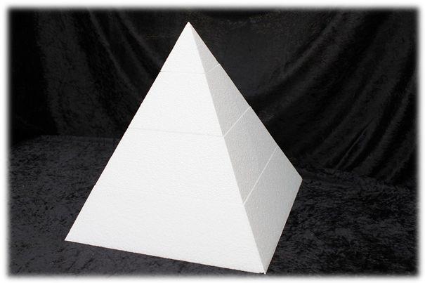 Pyramid cake dummy set with straight edges
