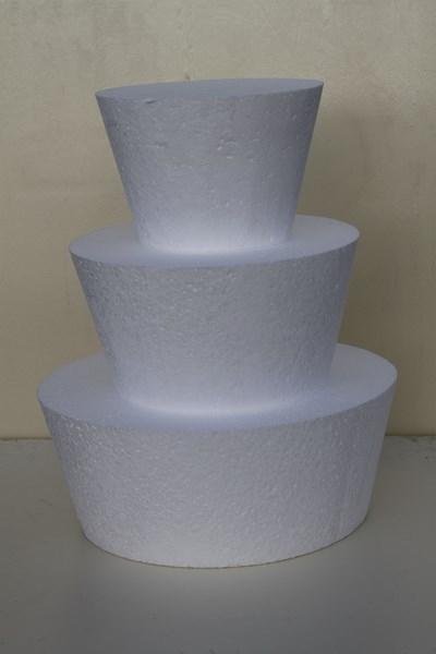 Runde Brunnen Tortendummy-set 3-teilig