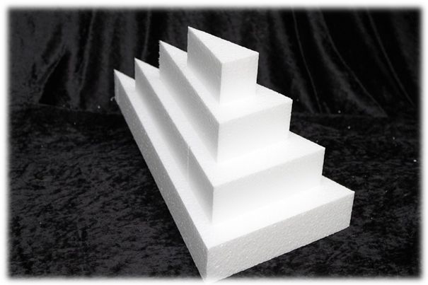 Cake Wedge dummies with straight edges of 5 cm high
