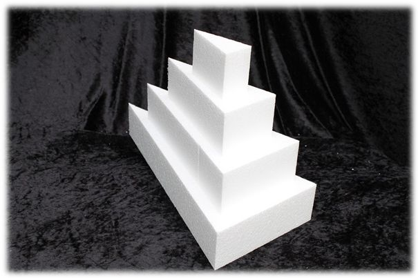Cake Wedge dummies with straight edges of 7 cm high