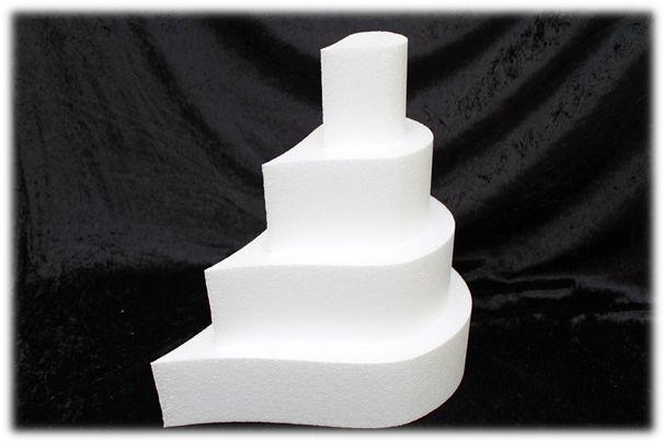 Teardrop cake dummies with straight edges 10 cm high