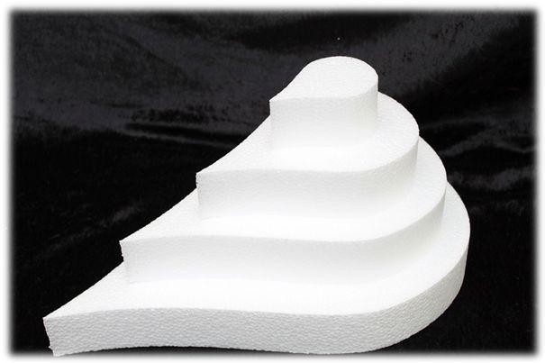 Teardrop cake dummies with straight edges 5 cm high
