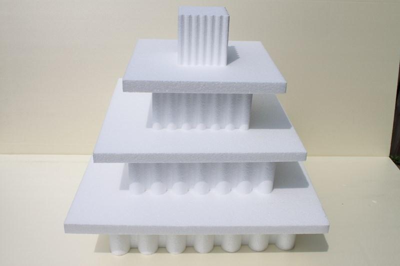 Viereckige Wellen - 4-teilige Set