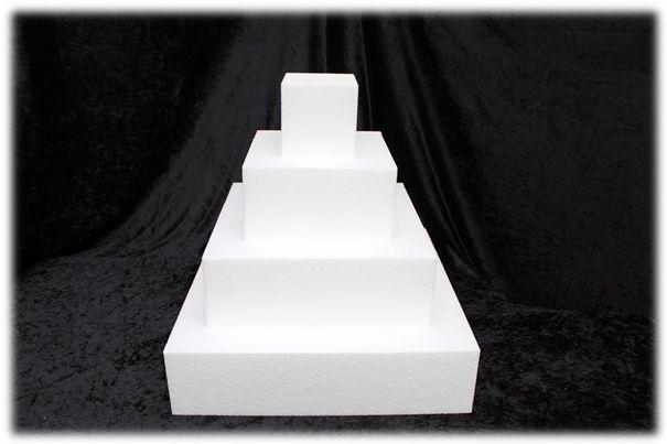 Vierkante taartdummies van 10 cm hoog