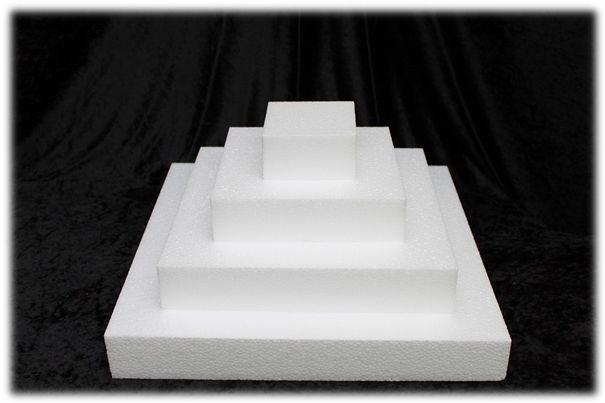Vierkante taartdummies van 5 cm hoog