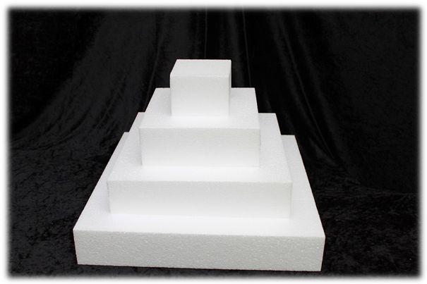 Viereck / Quadratische Tortendummies von 7 cm hoch