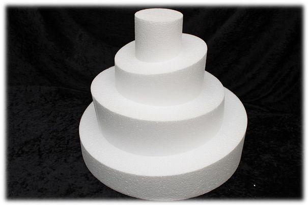 Runde Wonky Style Tortendummies 6 - 10 cm hoch