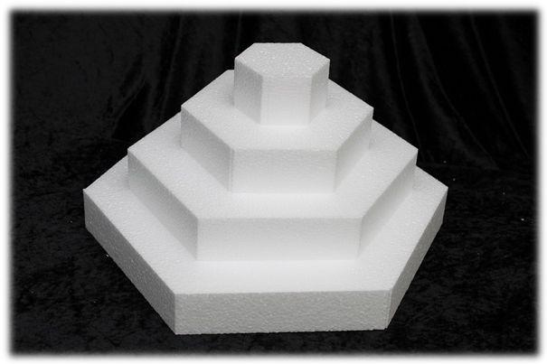 Zeshoek taartdummies van 5 cm hoog