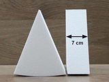 Cake Wedge dummies with chamfered edges of 7 cm high