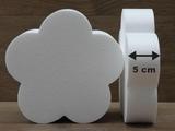 Bloem 5 Blad taartdummies met afgeronde hoek van 5 cm hoog