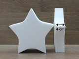 Star cake dummies with straight edges of 4 cm high